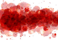 Red watercolor background Stock Photography