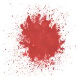 Red watercolor blot Stock Images