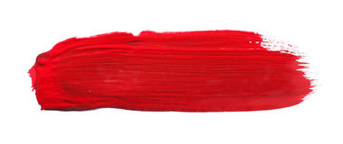 Red watercolor brush Royalty Free Stock Image