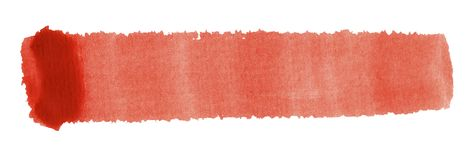 Watercolour brush stroke. A red watercolor brush stroke in white back Stock Images