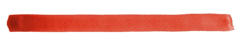 Watercolour brush stroke. A red watercolor brush stroke in white back Royalty Free Stock Images