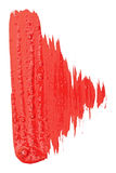 Red watercolor brush strokes Stock Photos