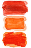 Red watercolor brush strokes Royalty Free Stock Images