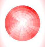 Red watercolor circles set Royalty Free Stock Images