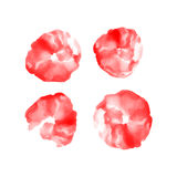 Red watercolor circles set Royalty Free Stock Photos