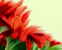 red watercolor floral design Stock Image