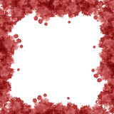 Red watercolor frame Stock Photography