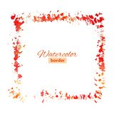 Red watercolor frame Stock Photo