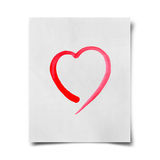 Red watercolor heart Stock Images