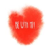 Red watercolor heart. Valentine's day illustration Royalty Free Stock Images