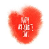Red watercolor heart. Valentine's day illustration Royalty Free Stock Photos