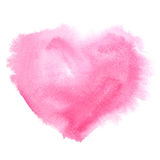 Red watercolor heart Stock Photo