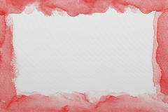 Red  watercolor paper texture Stock Image