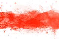 Red watercolor splashes of paint on canvas. Perfect for brush, design, template Royalty Free Stock Images