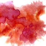 Red watercolor stains Stock Photos