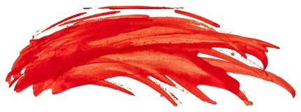 Red watercolor texture paint brush stroke. Red watercolor texture paint stain brush stroke stock illustration
