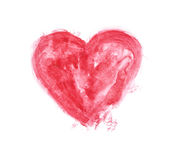 Red watercolour painted heart Royalty Free Stock Photo