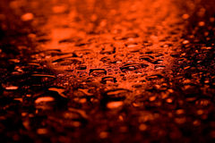 Red waterdrops Stock Image