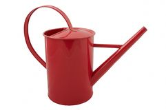 Red watering can. Isolated watering can Royalty Free Stock Photos