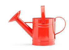 Red watering can Royalty Free Stock Image