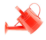 Red watering can Stock Images