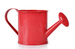 Red watering can. On white background Royalty Free Stock Photo