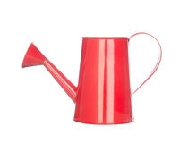 Red watering can isolated on white Royalty Free Stock Images