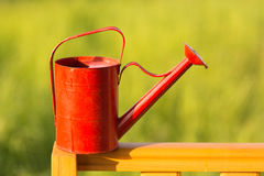 Red watering-can Royalty Free Stock Images