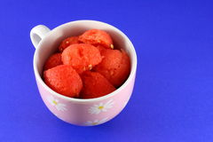 Red watermelon in cup Royalty Free Stock Images