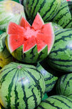 Red watermelon market Royalty Free Stock Photography
