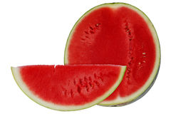 Red watermelon on white background Royalty Free Stock Image