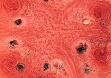 Red watermelon whole and slice on plate Royalty Free Stock Image