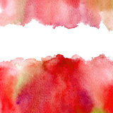 Red watery frame . Royalty Free Stock Photography