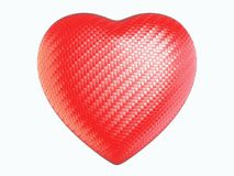 Red wattled fiber heart shape isolated. On white Royalty Free Stock Image
