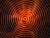 Red wave. Hypnotic abstract red rippled background royalty free illustration