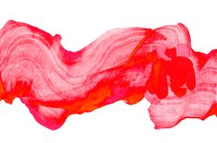 Red wave abstract acrylic paint spot. Red wave abstract liquid acrylic paint spot texture. stock illustration image for background. minimalistic design. abstract vector illustration
