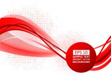 Red wave abstract background, Vector illustration with copy space.  vector illustration