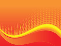 Red wave background Stock Photo