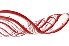 Red waves. Abstract 3d lines and waves Royalty Free Stock Image
