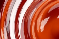 Red waves. Abstract red round waves of molten liquid chocolate Royalty Free Stock Photography