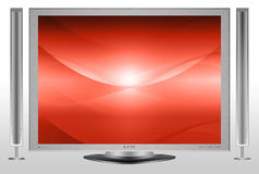 Red waves background 2 Royalty Free Stock Photography