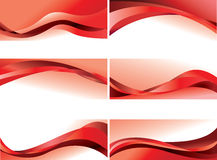 Red waves backgrounds Royalty Free Stock Image