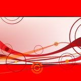 Red waves and circles. Vector art illustration; more drawings in my gallery Stock Photo