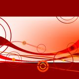 Red waves and circles 2 Stock Image