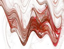 Red waves graphic Royalty Free Stock Images