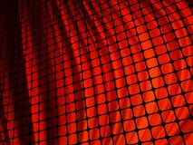 Red waves light 3D mosaic. Royalty Free Stock Images