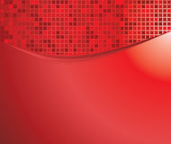 Red waves with mosaic Stock Images