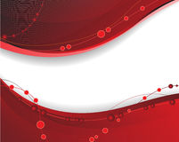Red wavy background Royalty Free Stock Photography