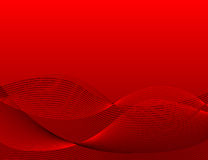 Red wavy background Stock Photos