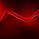 Red wavy background Stock Images